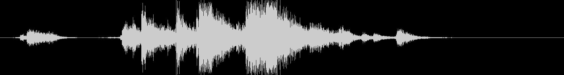 ガシャン(カトラリーをまとめて下す音)Aの未再生の波形