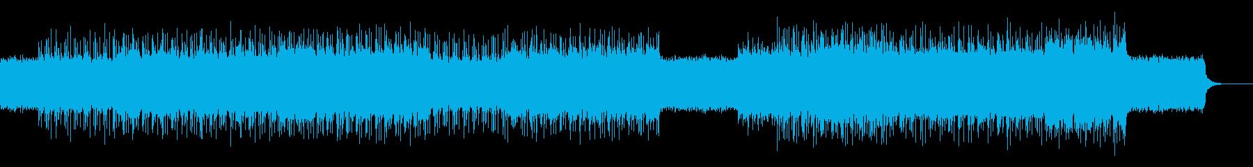 パワフルでサビ感の強いテクノロックBGMの再生済みの波形