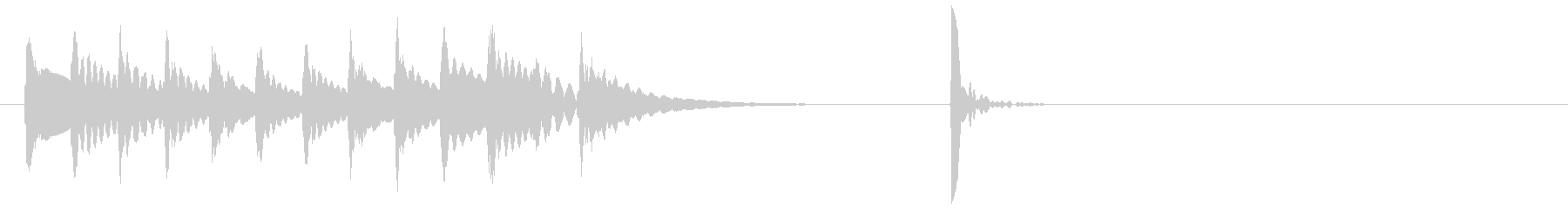 木琴~ポンッ!場面転換 アイキャッチ#6の未再生の波形