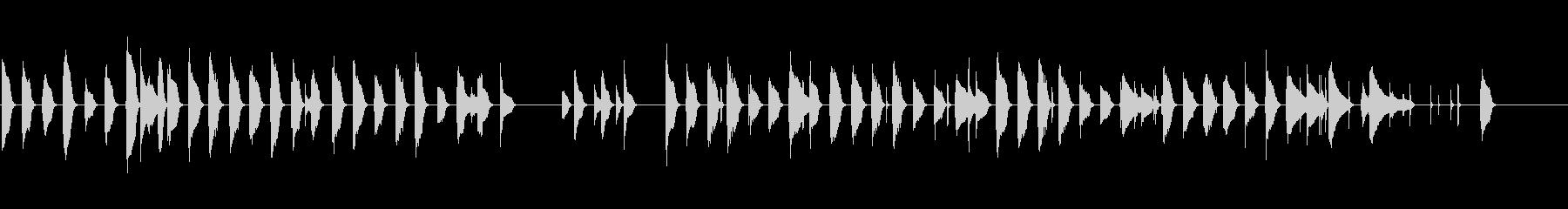 ほのぼのウクレレ ジングルの未再生の波形