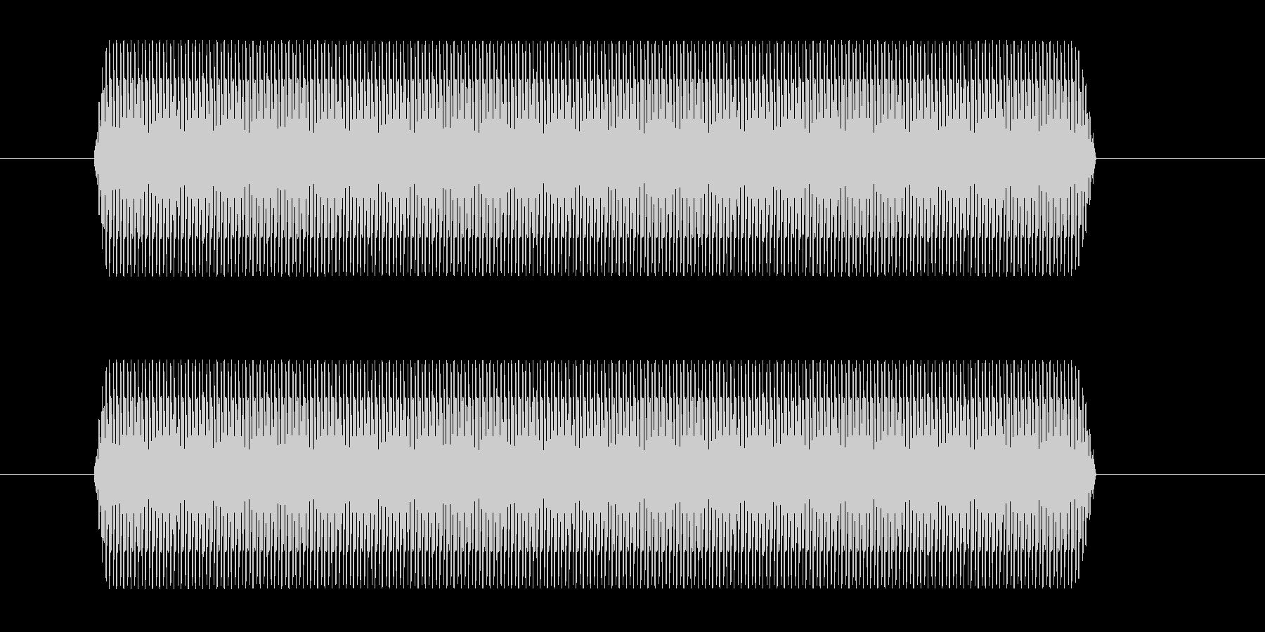 間違った回答ブザーの未再生の波形