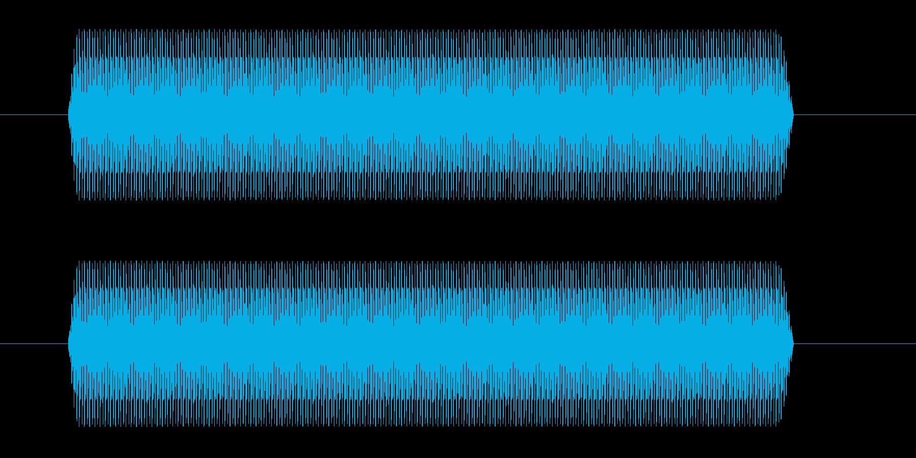 間違った回答ブザーの再生済みの波形