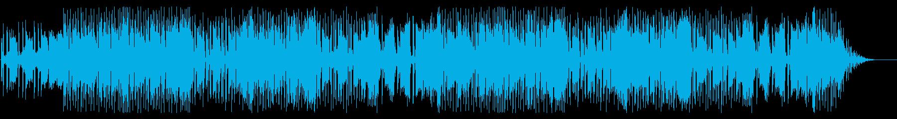 テクノでpopな明るめのBGM的楽曲の再生済みの波形
