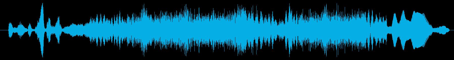 モンスター グリッチグロール01の再生済みの波形