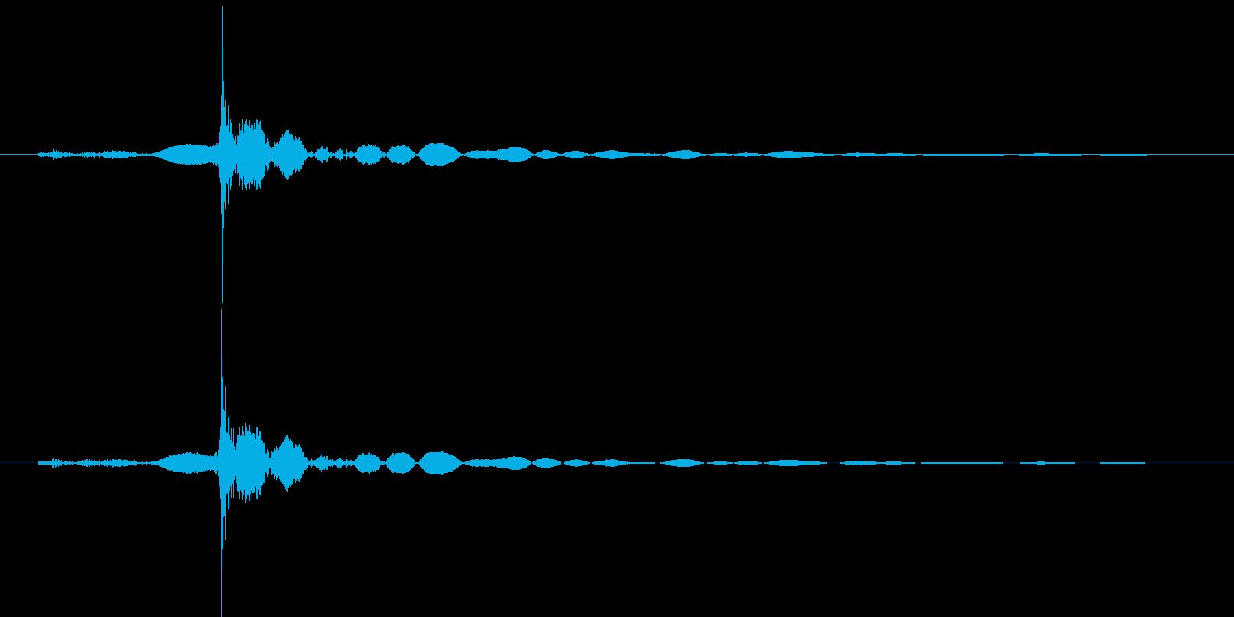 鍵をかけるの再生済みの波形
