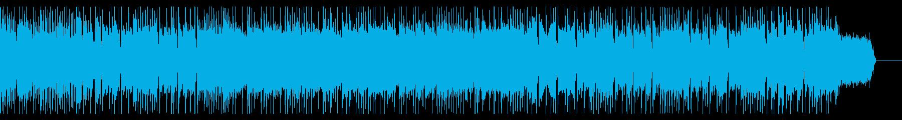 ドラムで始まるオーソドックスなロックの再生済みの波形