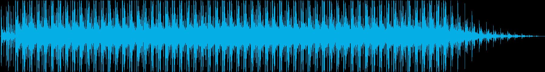 緊張感の中のシリアスなBGMの再生済みの波形