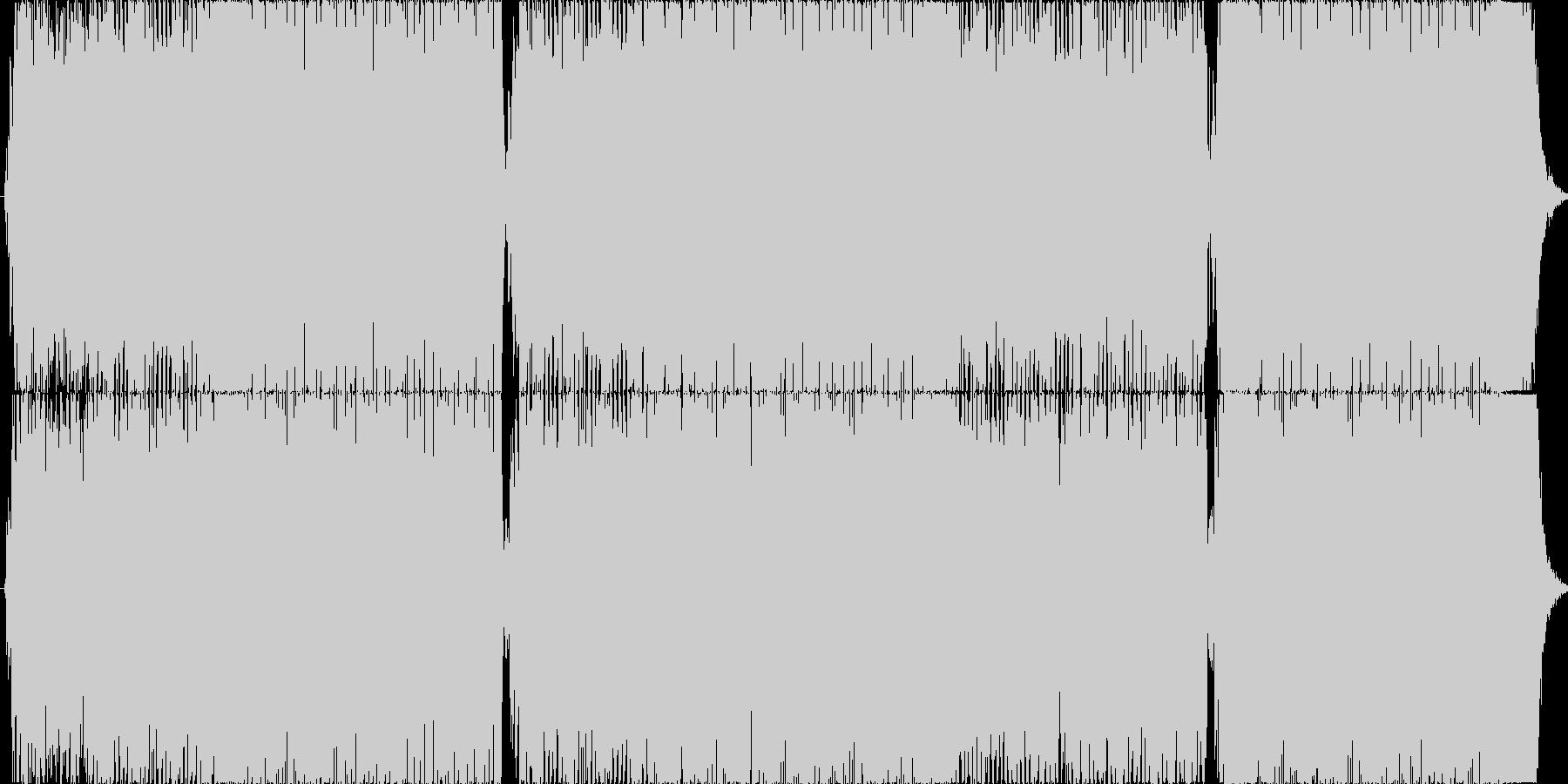 重めのギターが印象的な4分打ちの楽曲01の未再生の波形