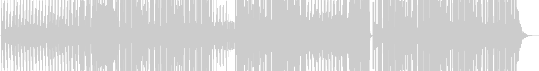 コミカルゾンビダンスEDMの未再生の波形