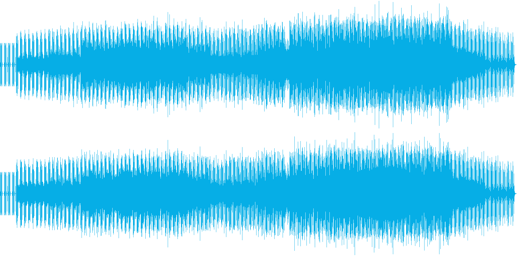 冷たい空気感の静寂なエレクトロニカの再生済みの波形