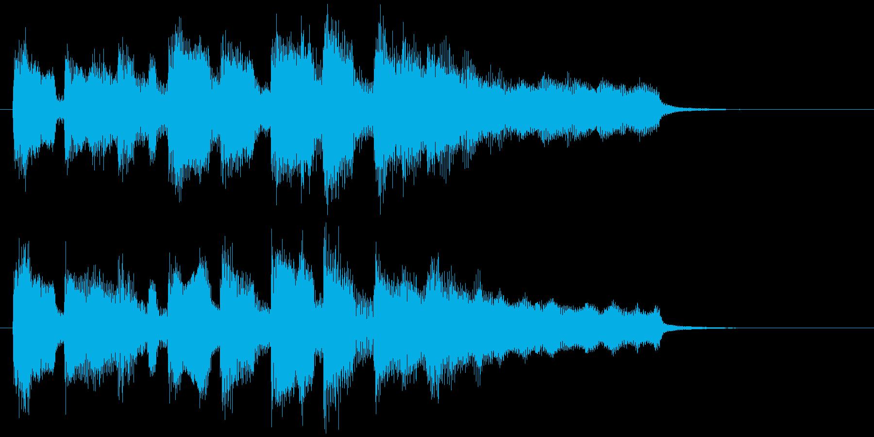 アイキャッチ、場面転換、日常系アニメ風味の再生済みの波形