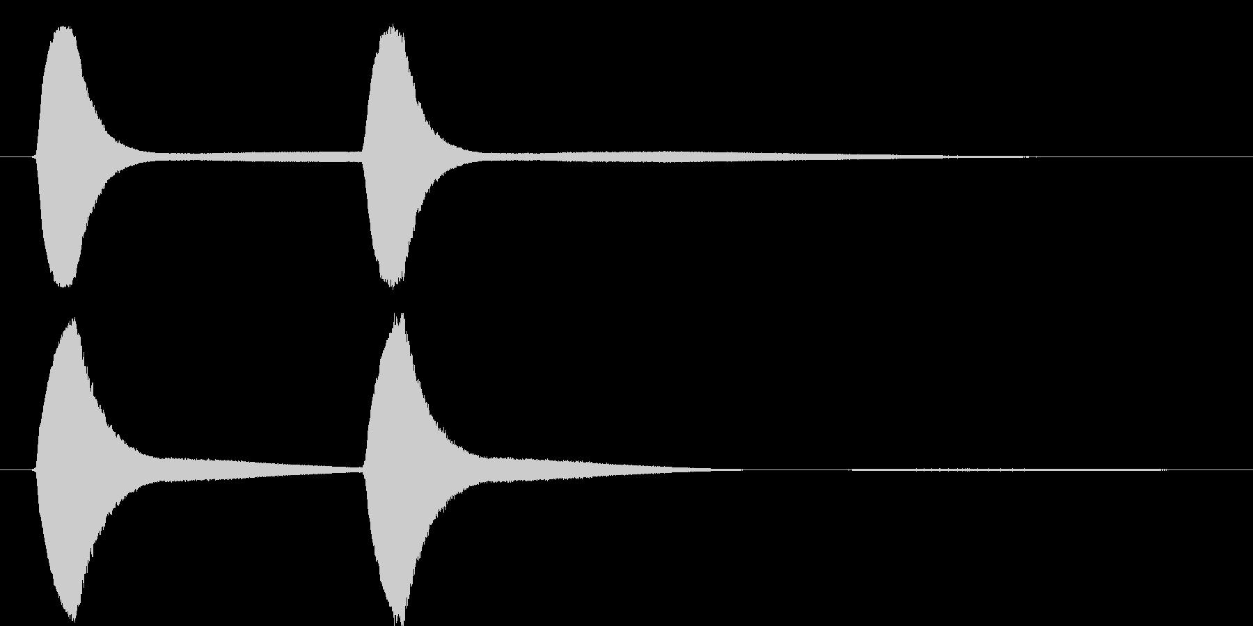 ピョンピョンという、レトロ風のピームガ…の未再生の波形