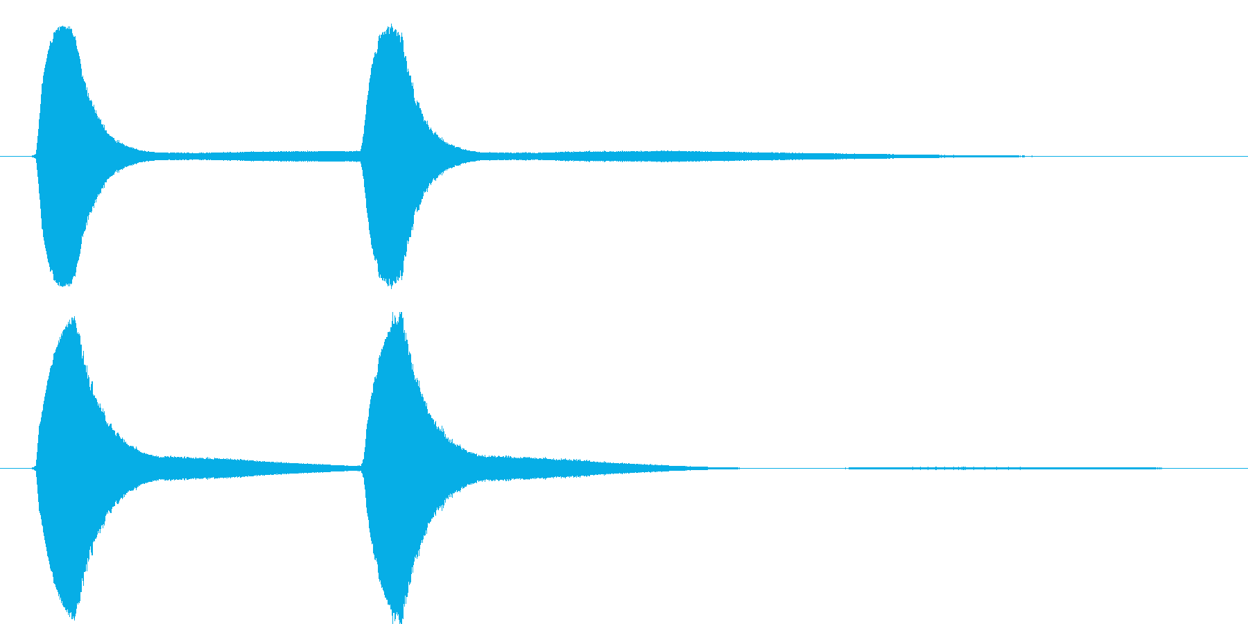 ピョンピョンという、レトロ風のピームガ…の再生済みの波形