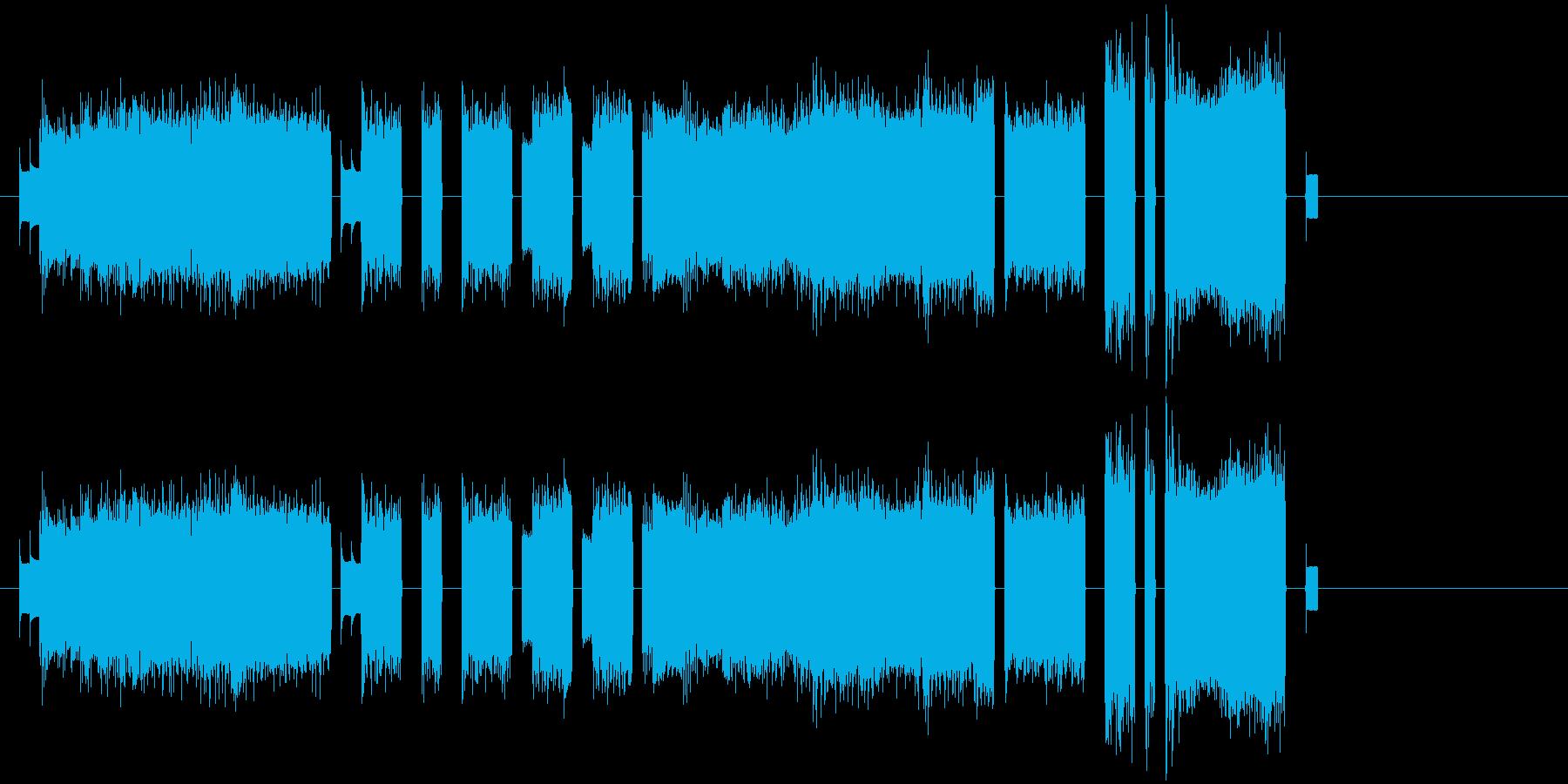 ファミコンゲーム系 お洒落なジングルの再生済みの波形