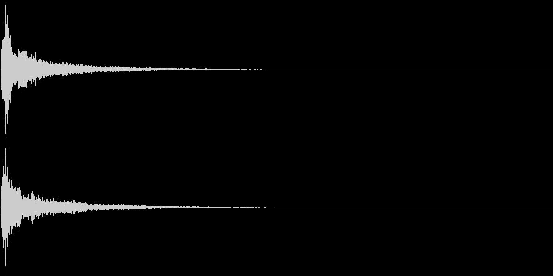 TVFX テロップ出しのSE 2の未再生の波形