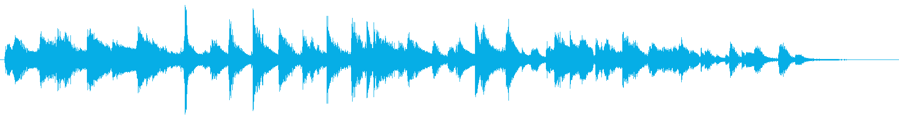 Somewhere comical and fantastic jazz piano's reproduced waveform
