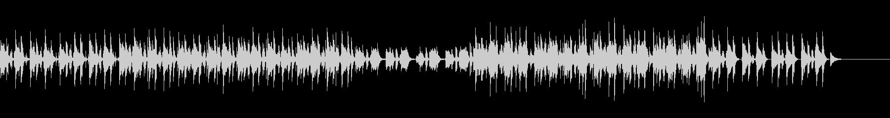 コソコソと移動しているイメージのジャズの未再生の波形