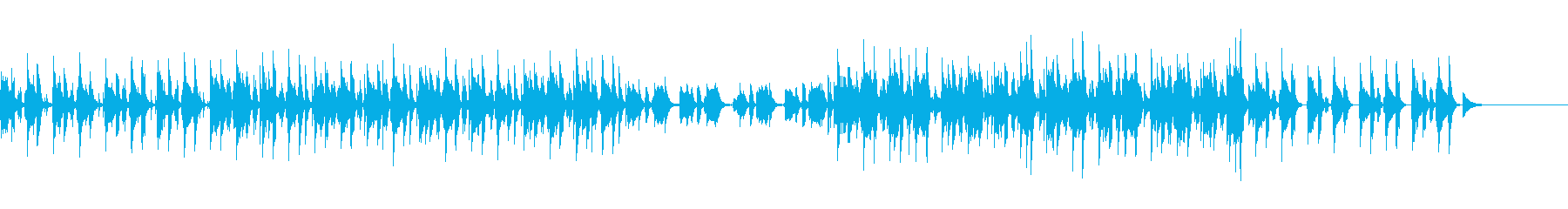 コソコソと移動しているイメージのジャズの再生済みの波形