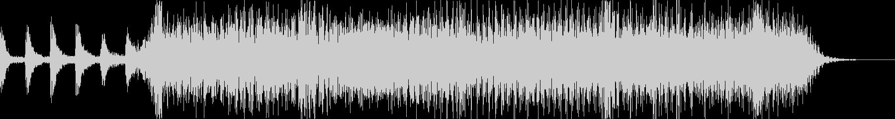 ロックバンド2〜3秒ショートジングル2の未再生の波形