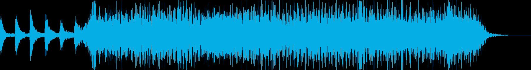 ロックバンド2〜3秒ショートジングル2の再生済みの波形