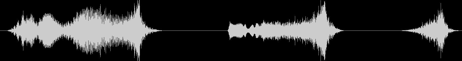フィクション 電力装置 崩壊03の未再生の波形
