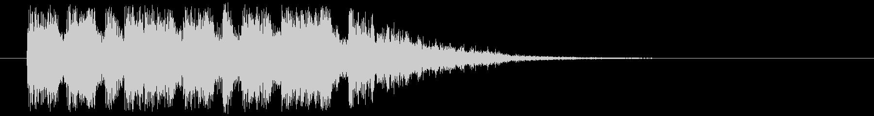 ジングル(重厚な場面転換)の未再生の波形