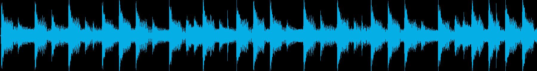 4つ打ちダンスの短いジングル(ループ)の再生済みの波形