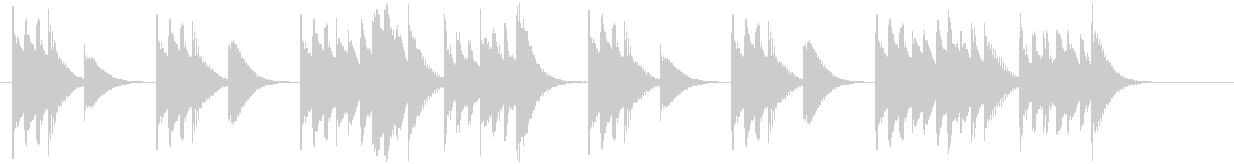 木琴で作ったコミカルで短いジングルの未再生の波形