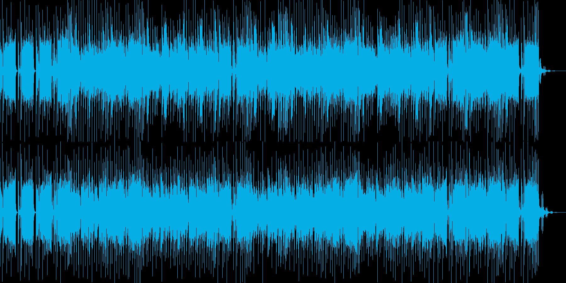 テクノハウス系のリズムに和風なメロディの再生済みの波形
