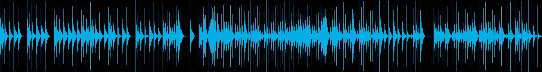 ジブリのようなオルゴール(ループ素材)の再生済みの波形