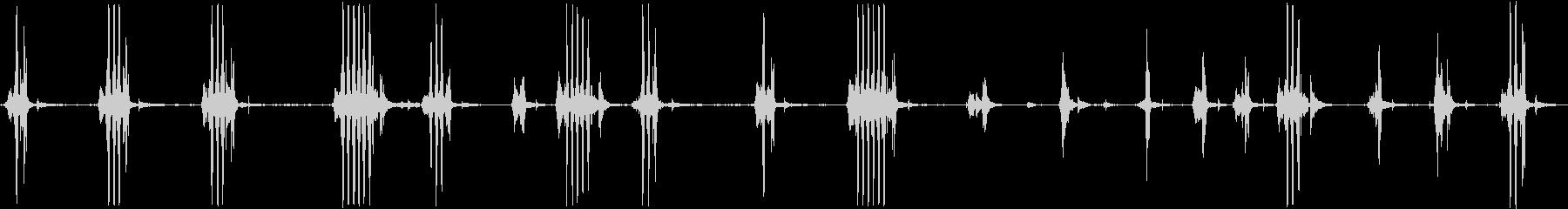 コンプレッサーヒスオンの未再生の波形