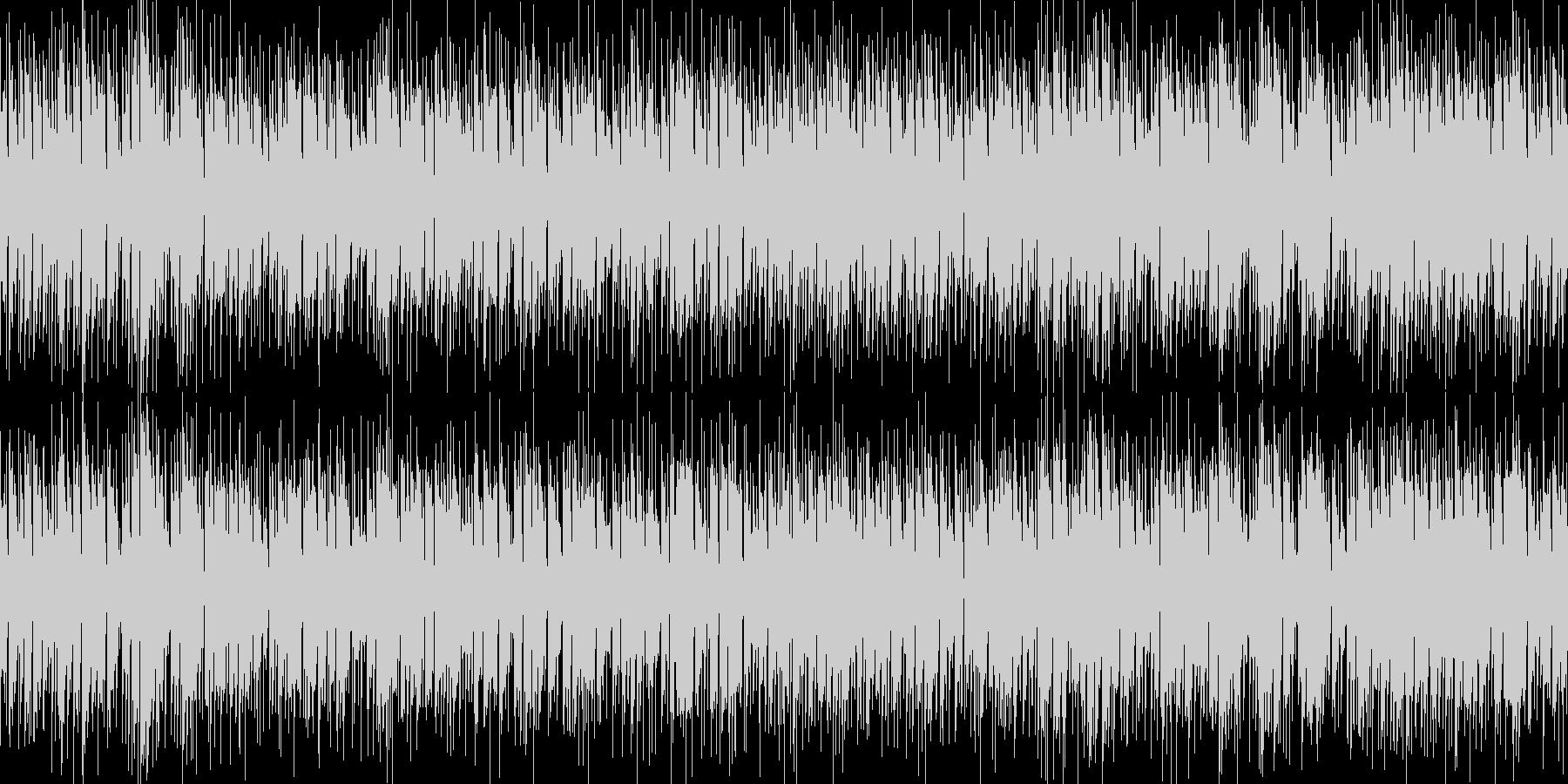 ループ可能な爽やかで気怠いエレキギター曲の未再生の波形