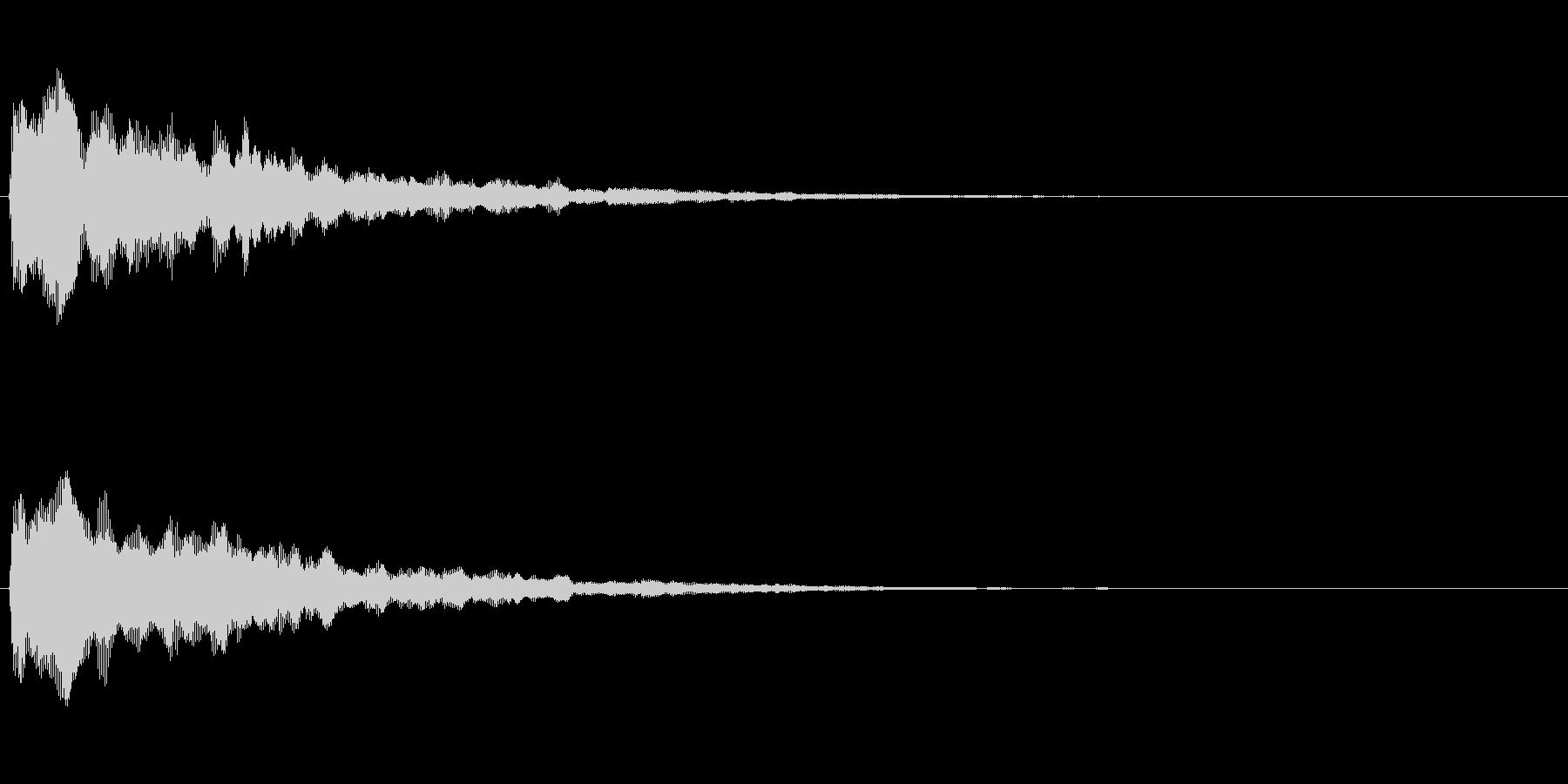 ふぁん(ファー)という宇宙風柔らかい音の未再生の波形