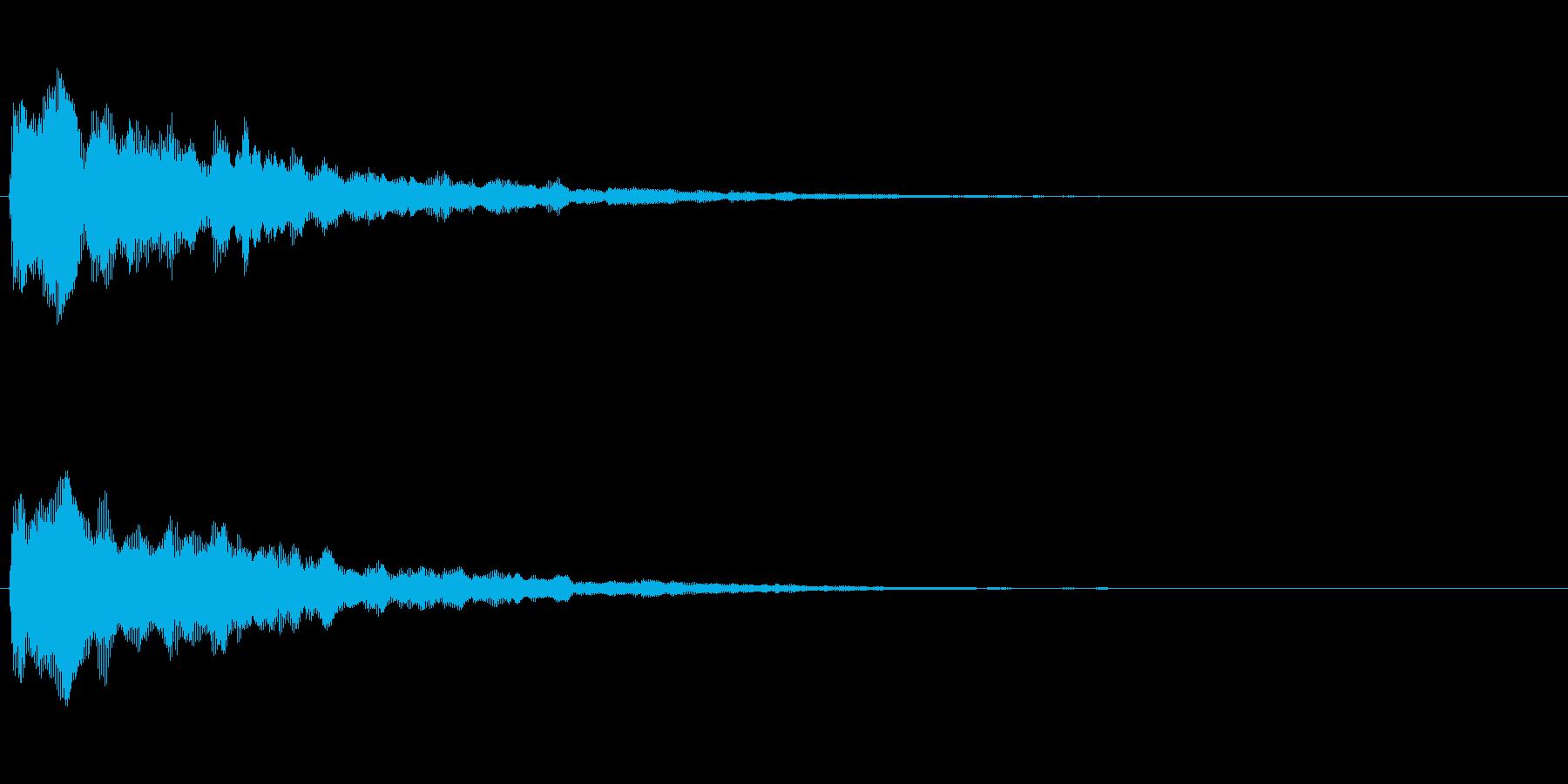 ふぁん(ファー)という宇宙風柔らかい音の再生済みの波形