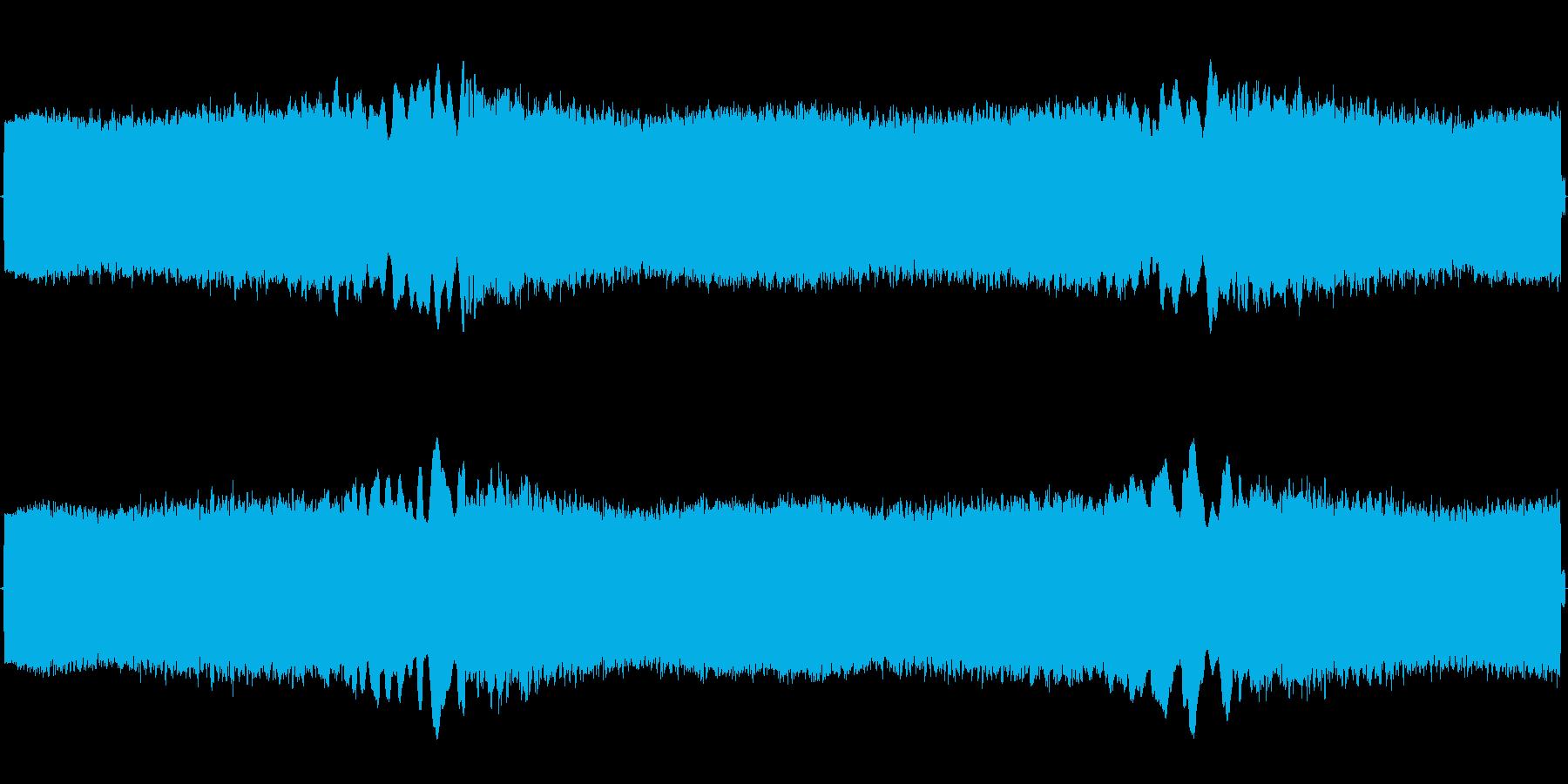 救急車サイレン(ウー)の再生済みの波形