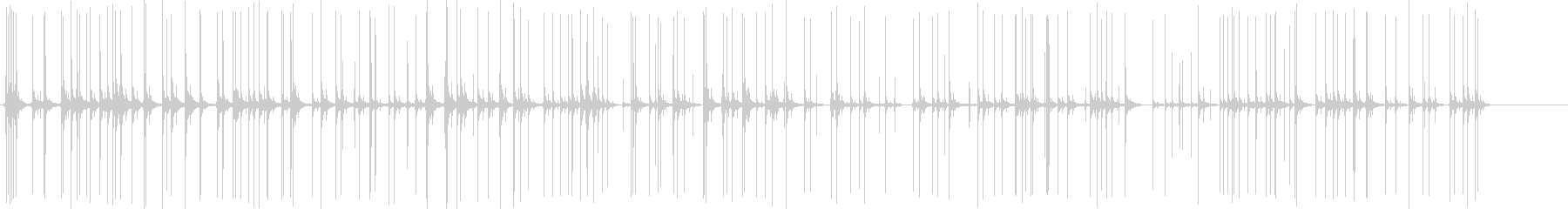 爆発する爆竹の未再生の波形