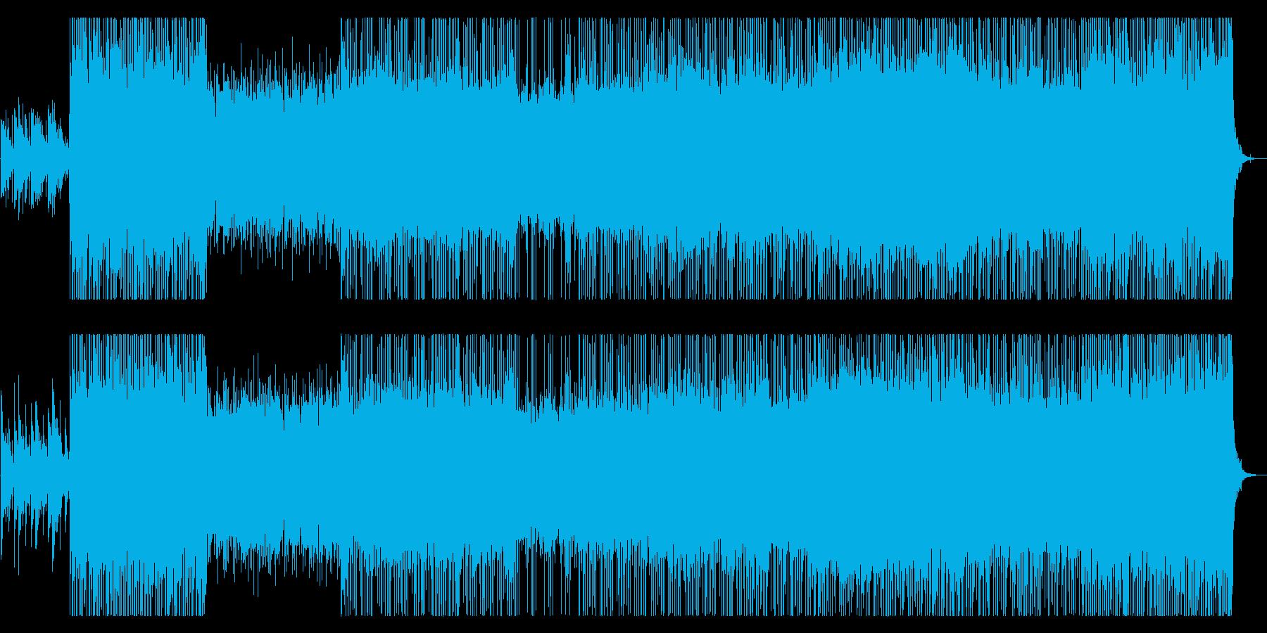 力強いギターとバンドサウンドのロックの再生済みの波形