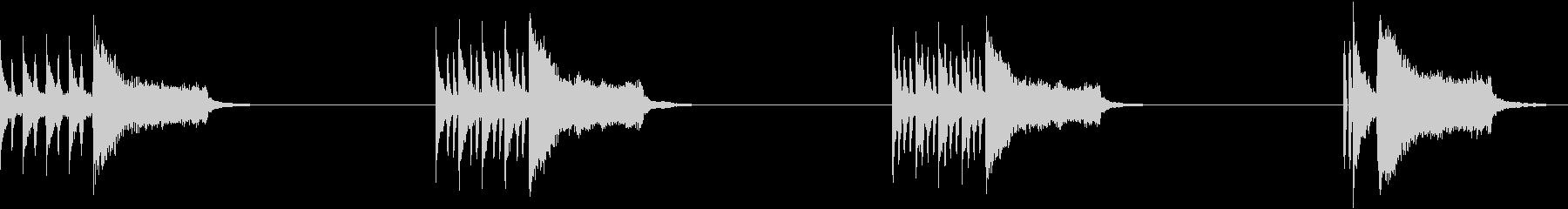 エンディングヒット、4バージョン、...の未再生の波形