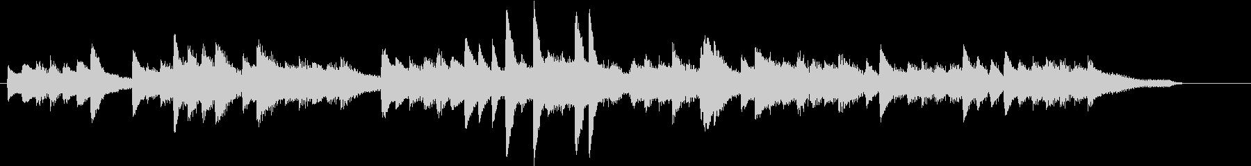 お正月・春の海モチーフのピアノジングルJの未再生の波形