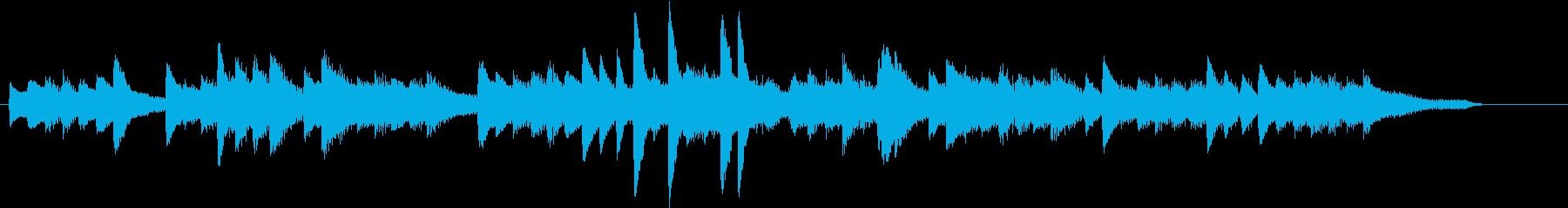 お正月・春の海モチーフのピアノジングルJの再生済みの波形