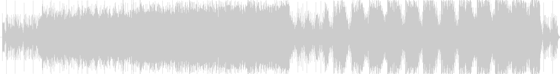 緊張感のある重低音が特徴のサウンドの未再生の波形