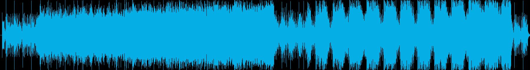 緊張感のある重低音が特徴のサウンドの再生済みの波形