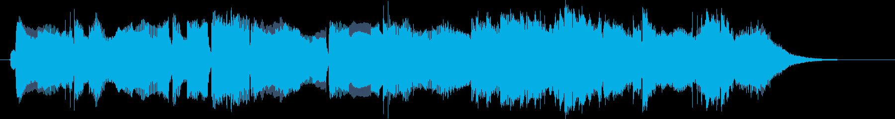ゆったりと落ち着いたリラクゼーション音楽の再生済みの波形