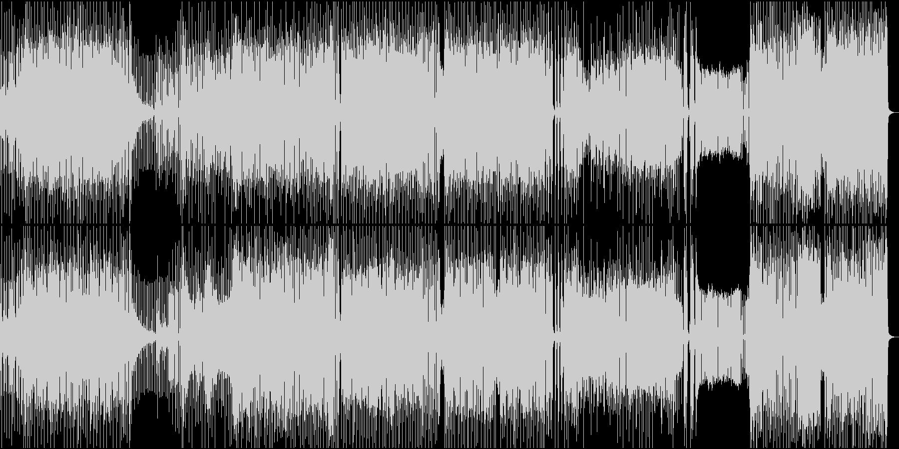 ハイテンポハイテンションな雰囲気のロックの未再生の波形