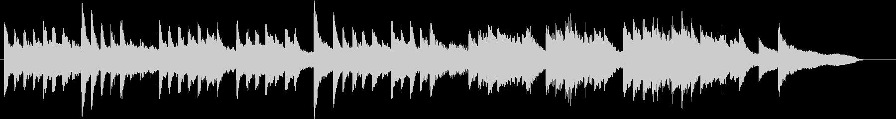 童謡・虫のこえモチーフのピアノジングルEの未再生の波形