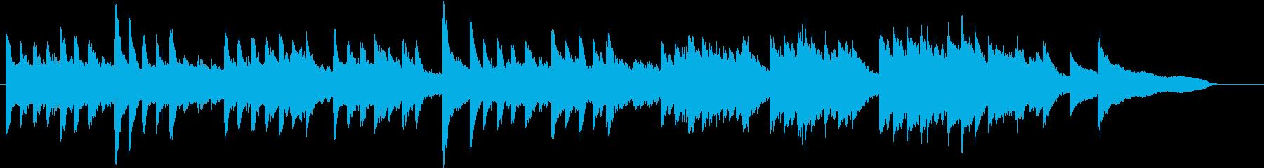 童謡・虫のこえモチーフのピアノジングルEの再生済みの波形
