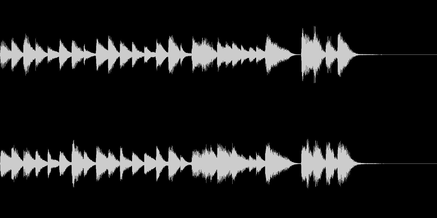 少しコミカル?なカワイイ系ピアノジングルの未再生の波形