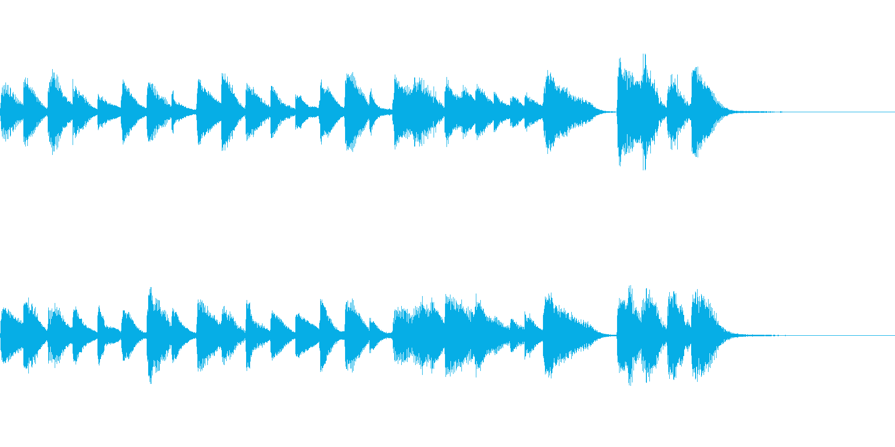 少しコミカル?なカワイイ系ピアノジングルの再生済みの波形