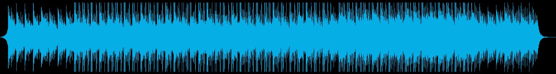バックグラウンドテクノロジーミュージックの再生済みの波形