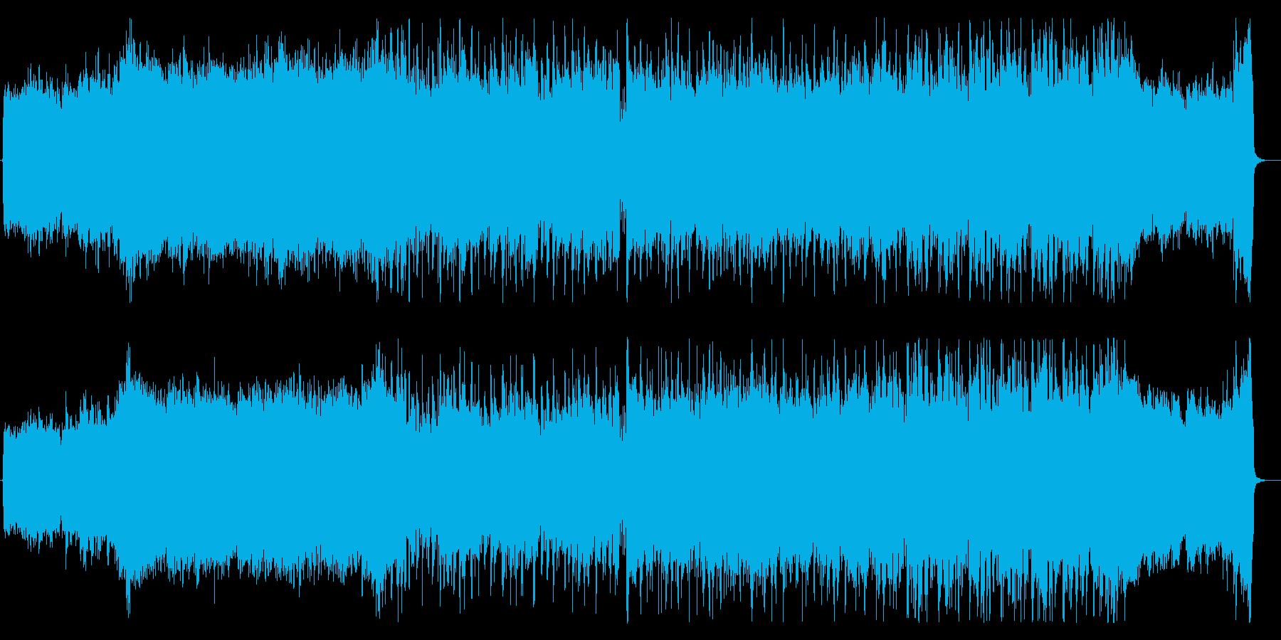 ヘビーで渋めなシンセロックの再生済みの波形